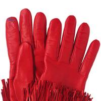 Leather gloves, £140, by Diane von Furstenberg