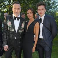 David Furnish, Victoria Beckham and Brooklyn Beckham