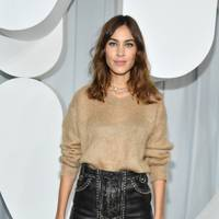 Alexa Chung at the Miu Miu show.