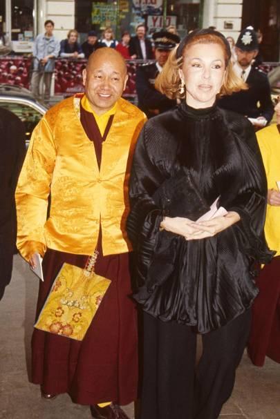 Lama Yeshe and Mrs Jonathan Aitken