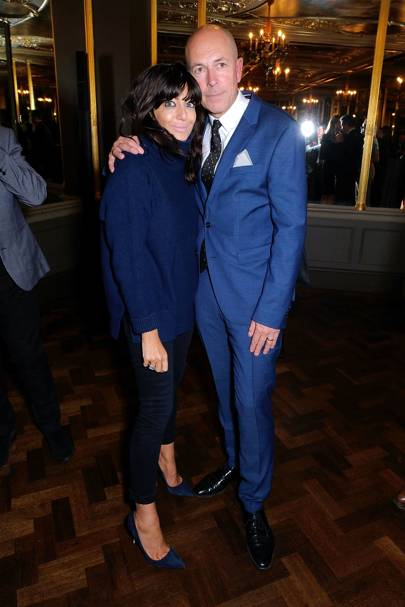 Claudia Winkleman and Dylan Jones
