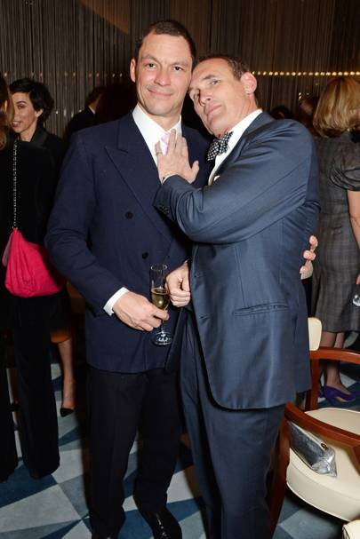 Dominic West and AA Gill