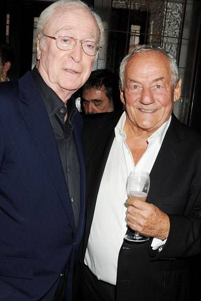 Michael Caine and Johnny Gold