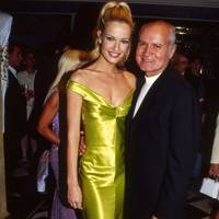 Karen Mulder and Gianni Versace