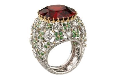 Garnet, tanzanite and diamond ring, POA, Buccellati