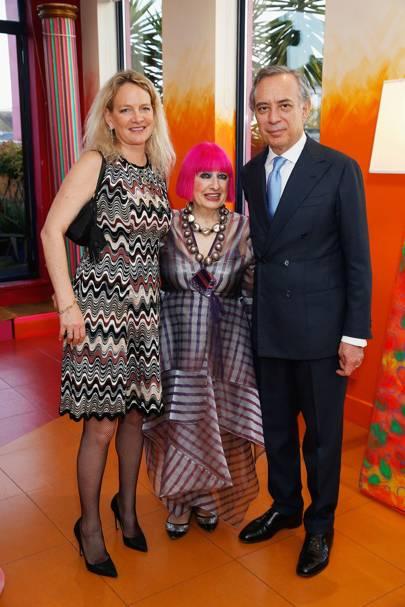 Pasquale Terracciano, Zandra Rhodes and Karen Terracciano