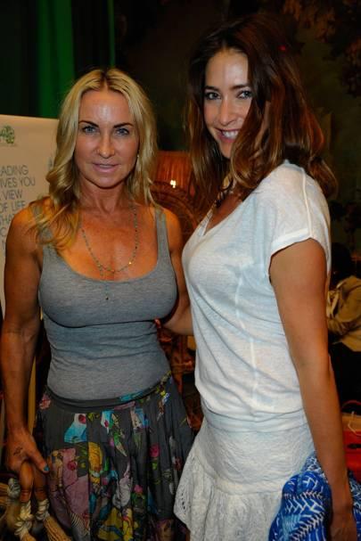 Meg Mathews and Lisa Snowdon
