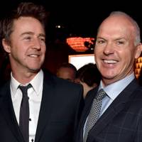 Edward Norton and Michael Keaton