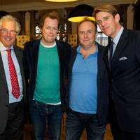 William Waldegrave, Tom Parker Bowles, Aaron Simpson and Ben Elliot