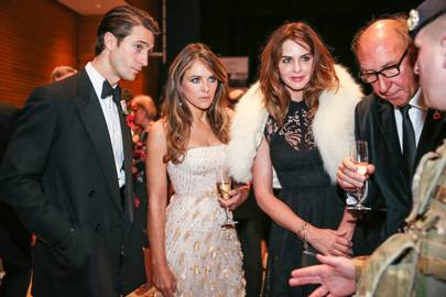 Francis Roseman, Elizabeth Hurley and Trinny Woodall