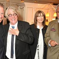 Viscount Linley, Frank Cohen, Cheryl Cohen and Sir David Tang, 2016
