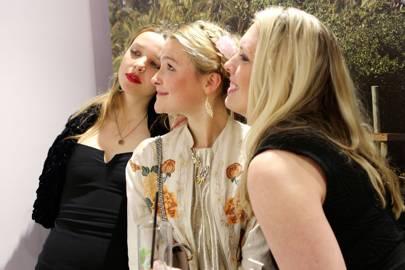 Greta Bellamacina, Amber Atherton and Erin Donnelly