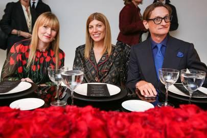 Amy Astley, Virginia Smith and Hamish Bowles