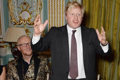 John Caudwell and Boris Johnson