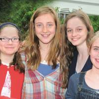 Consuelo Monson, Imy Lowdon, Serpahina Monson and Maddie Lowdon