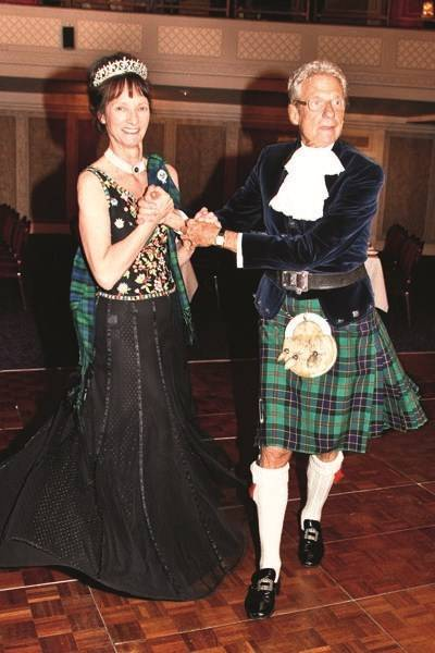 Christopher Balfour with the Duchess of Argyll