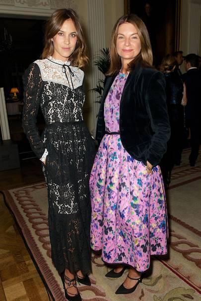 Alexa Chung and Natalie Massenet