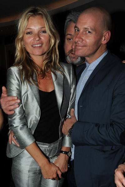 Kate Moss and Paul Rowe
