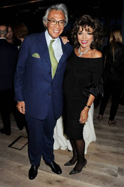 Sir David Tang and Dame Joan Collins, 2011