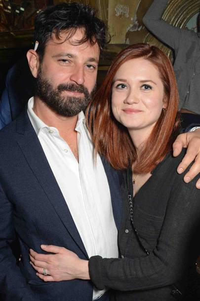 Simon Hammerstein and Bonnie Wright