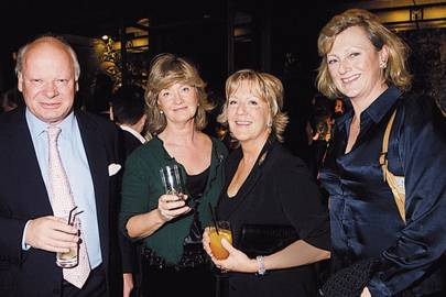 Jeremy Palmer-Tomkinson, Mrs Jeremy Palmer-Tomkinson, Mrs Martin Lane Fox and the Hon Mrs Tim Steel