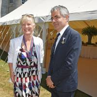 Countess of March and Kinrara and Rowan Atkinson