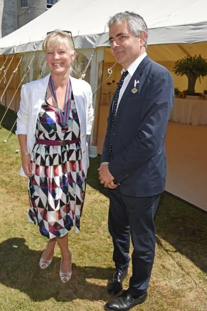 Countess of March and Kinrara and Rowan Atkinson