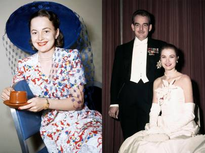 Olivia de Havilland - Grace Kelly and Prince Rainier III