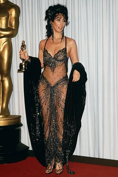 Cher wearing Bob Mackie in 1998