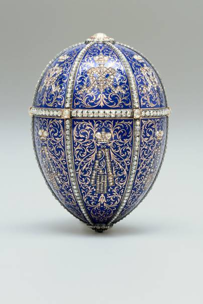 The Twelve Monogram Egg (also known as the Alexander III Portraits Egg), House of Fabergé, 1896