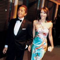 Valentino Garavani and Elizabeth Hurley