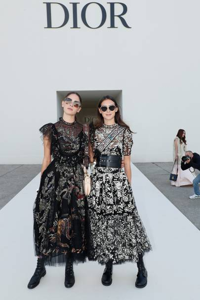Viola and Vera Arrivabene at the Dior show.