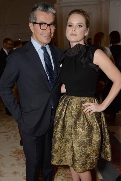 Giorgio Guidotti and Alice Eve