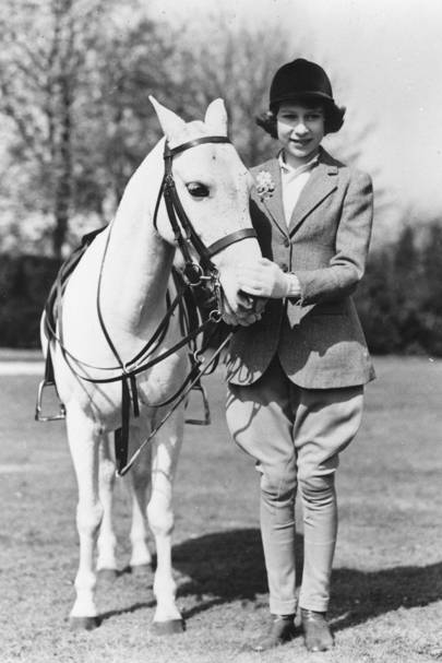 The Queen in Windsor in 1939, aged 13