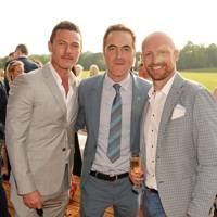 Luke Evans, Matt Dawson and James Nesbitt