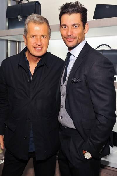 Mario Testino and David Gandy