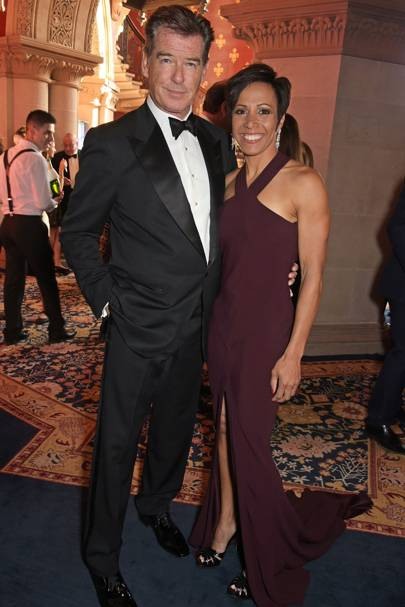 Pierce Brosnan and Dame Kelly Holmes