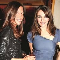 Amanda Sheppard and Elizabeth Hurley