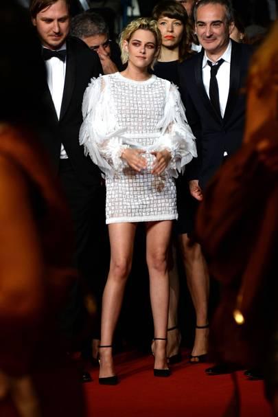Kristen Stewart wearing Chanel and Messika jewellery, 2016