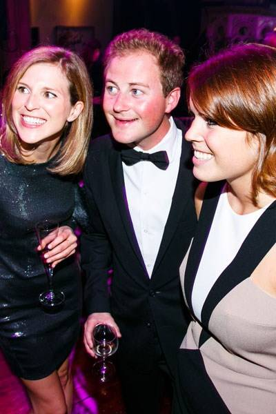 Elizabeth Wilson, Guy Pelly and  Princess Eugenie
