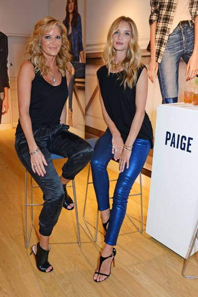 Rosie Huntington Whiteley and Paige Adams Geller