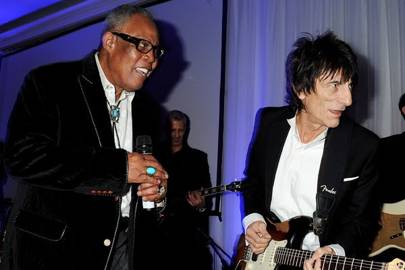 Sam Hoare and Ronnie Wood
