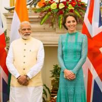Narendra Modi and the Duchess of Cambridge