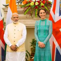 Narendra Modi and the Duchess of Cambridge