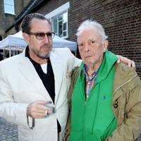Julian Schnabel and David Bailey