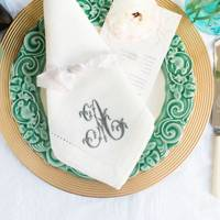 The Embroidered Napkin Company monogrammed napkins