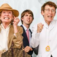 Joan Hicks, Jack Greenall and Sophie Hicks