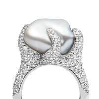 Pearl and diamond ring, POA, Mikimoto
