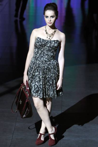 At the Dolce and Gabbana show, Milan Fashion Week, 2011