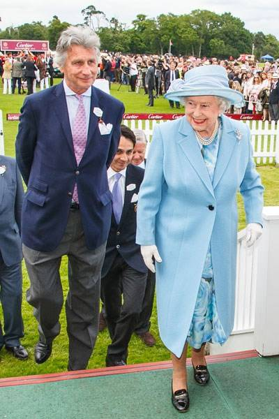 The Queen and Arnaud Bamberger